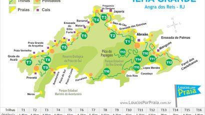 Карта Ила-Гранде с тропинками по номерамю