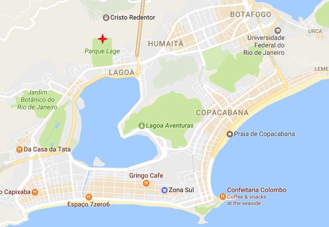 Parque Lage - отправная точка подъема на Корковадо