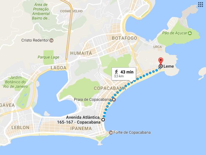 Рио-де-Жанейро, Копакабана-Леме